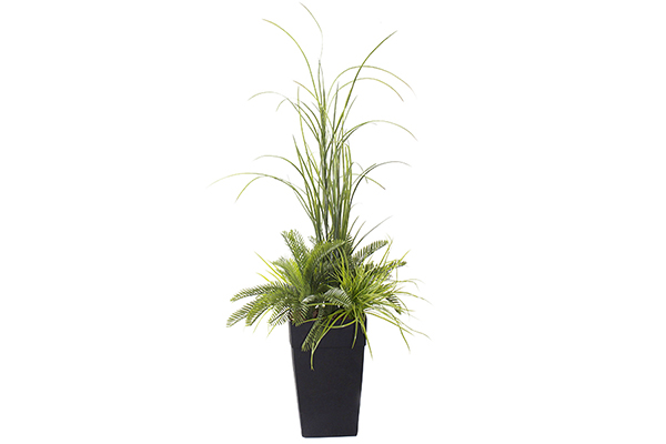 48″ Draconian Planter Fern and Grass