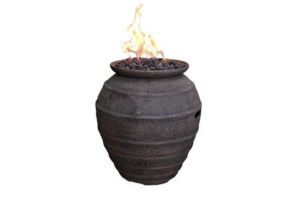 Propane Cast Concrete Pompeii Pot