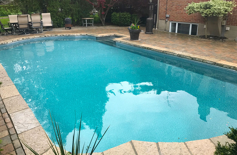 Midnight ocean pool vinyl liners pioneer family pools - Swimming pools burlington ontario ...