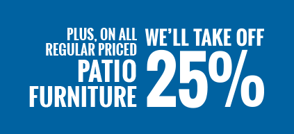 Save 25 perect on patio Furniture
