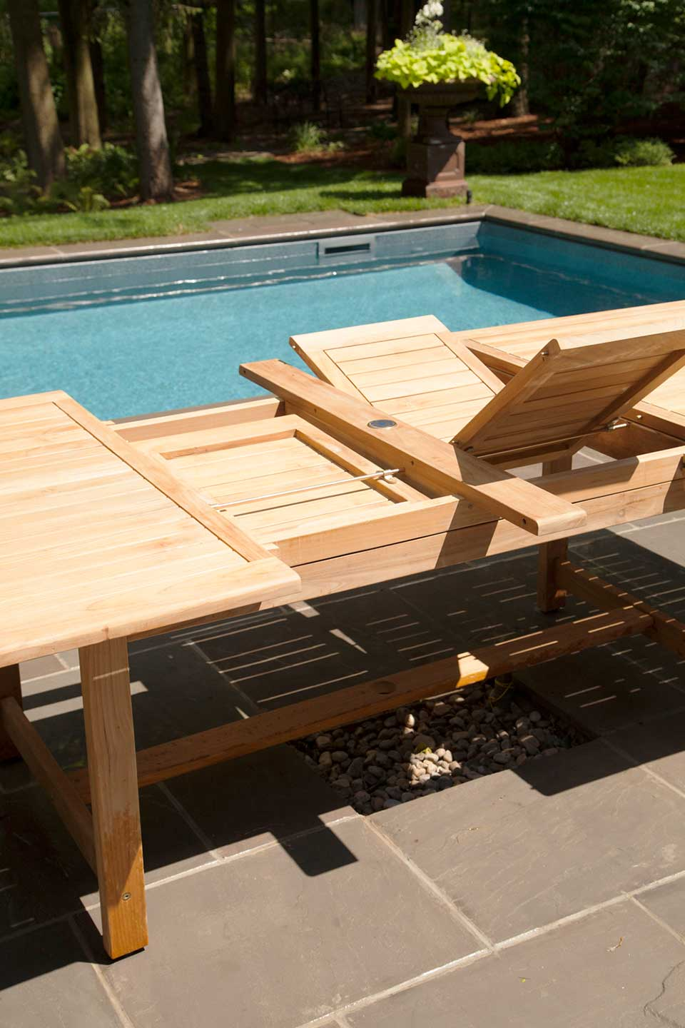 Sydney Teak And Wicker Dining Collection Pioneer Family Pools
