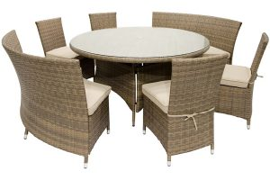 St. Thomas round dining wicker set
