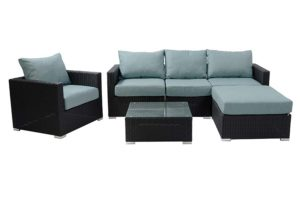 Milan Sectional Black/Ocean