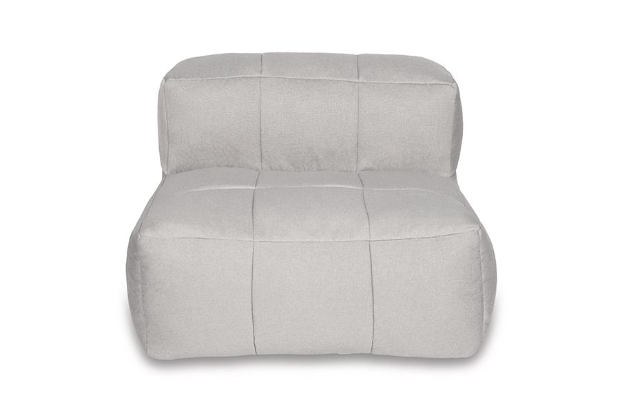 Armless Lounge Piece Dark Grey Stripe