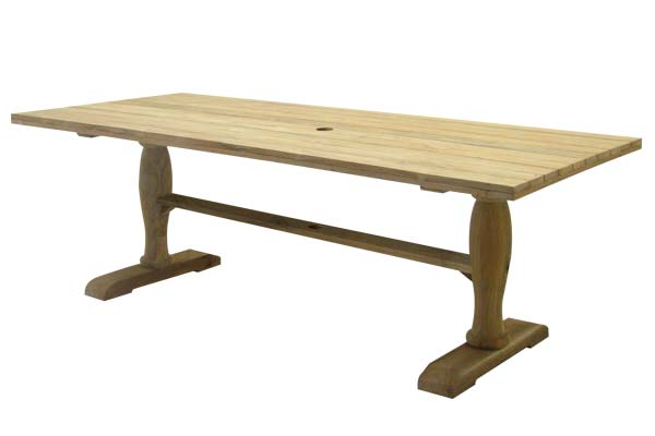 39″ x 86″ Rectangle Teak Dining Table