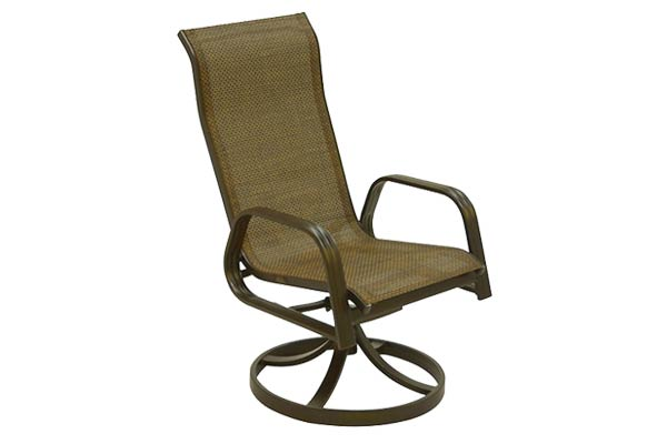 Bronze Sling Swivel Dining Chair