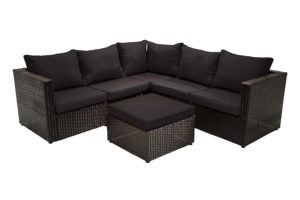 San Paolo Black Sectional