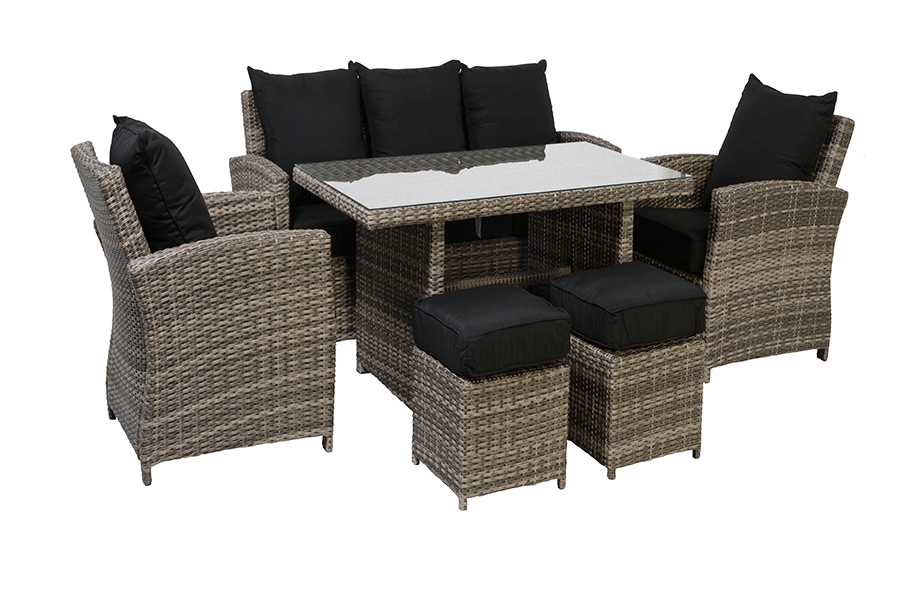 Six Piece Deep Seating with High Top Coffee Table