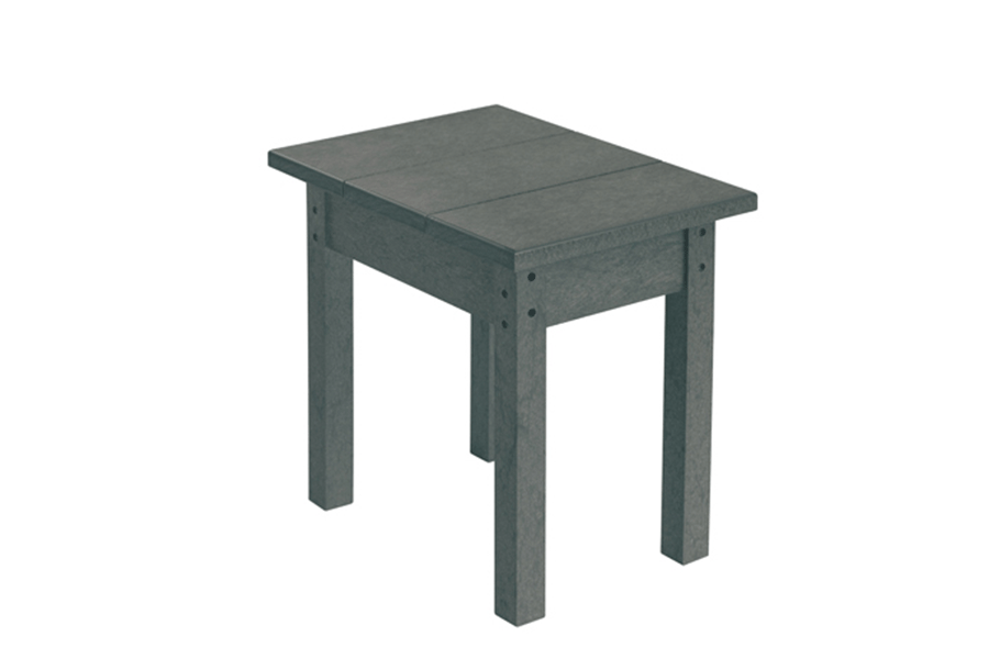Small Rectangle Side Table Slate Grey