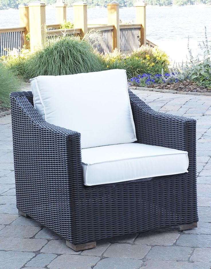 Deep Seating Patio Furniture Cushions: Savannah Aluminum & Wicker Deep Seating Collection
