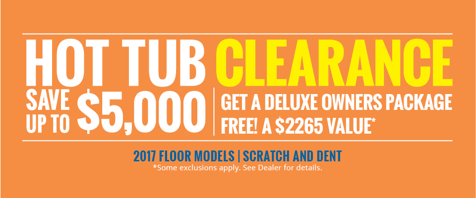 2017 Hot Tub Clearance Sale