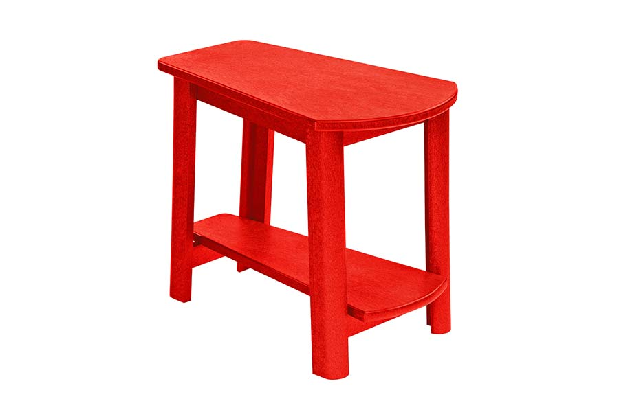 25″x17″ Addy Side Table Red