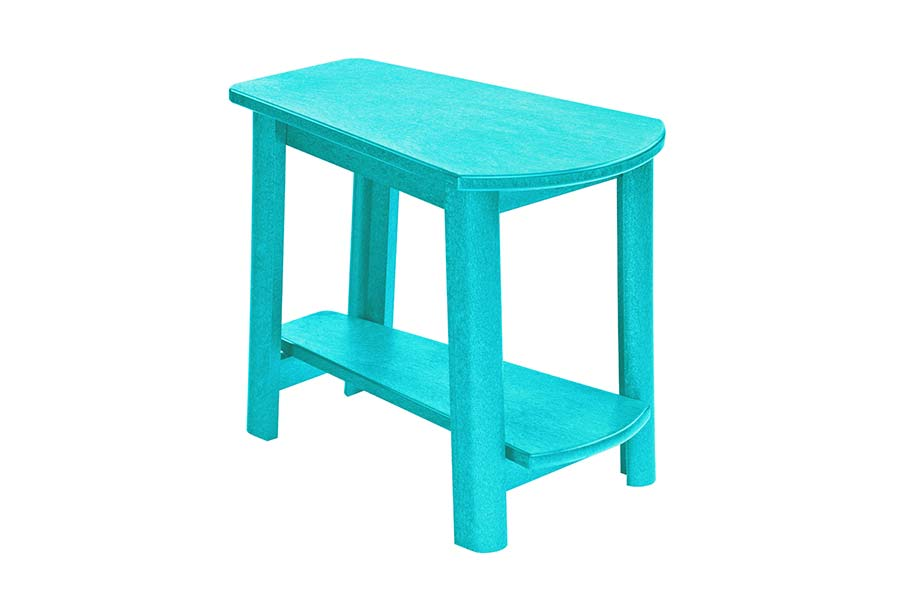 25″ x 17″ Addy Side Table Turquoise