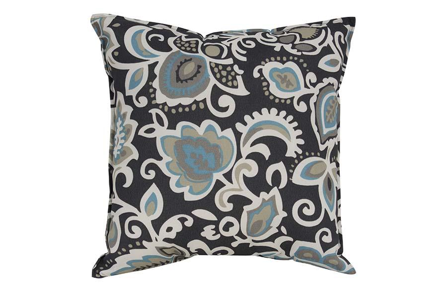 Aqua & Dark Grey Jaquard Outdoor Cushion
