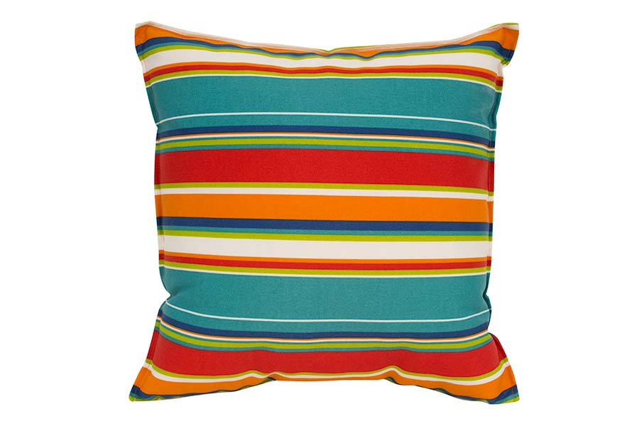 Orange Stripe Outdoor Cushion