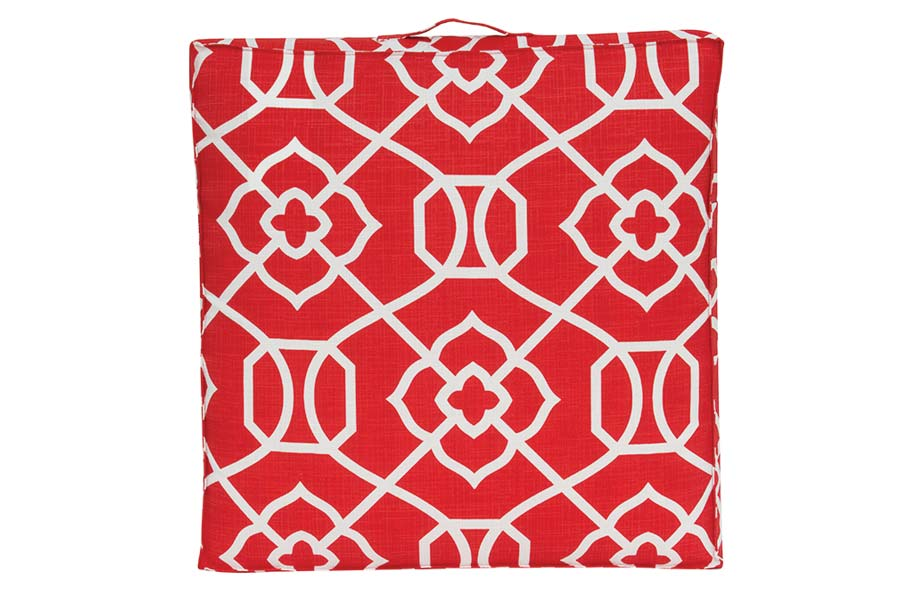 Red & White Poolside Cushion
