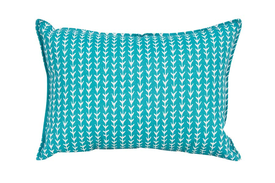Aqua Arrows Outdoor Cushion
