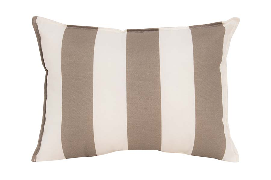 Beige White Stripe Cushion