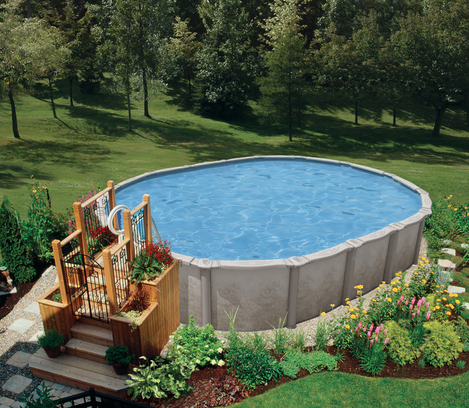 Above Ground Pool Landscaping Pioneer Family Pools