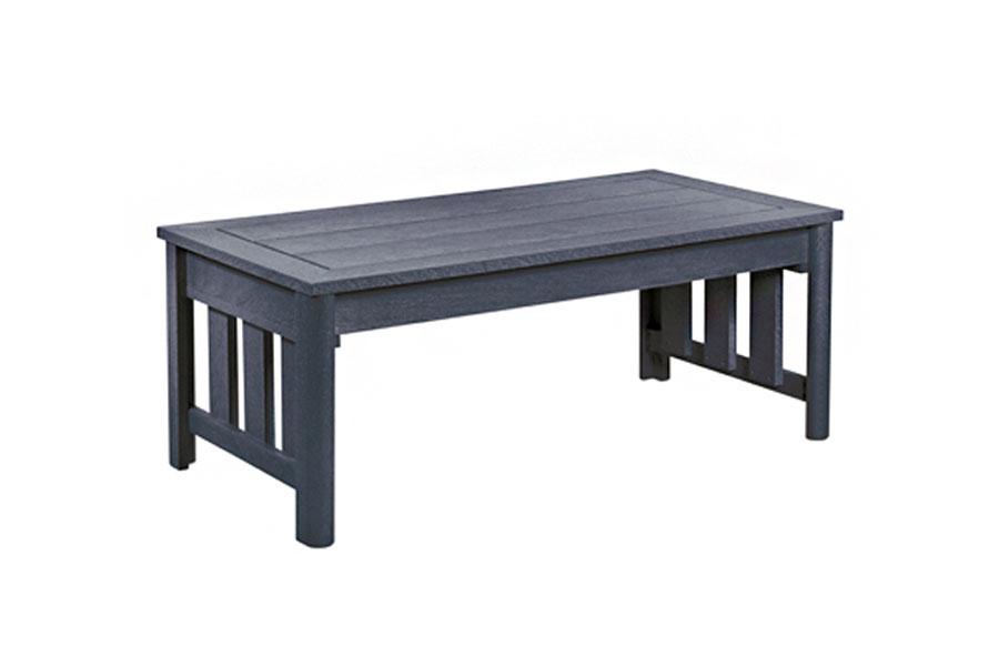 25″x49″ Rectangle Coffee Table Slate Grey