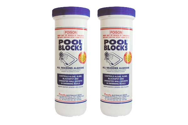 AlgaeFree Pool Blocks 600g 2 Pack Pioneer Family Pools