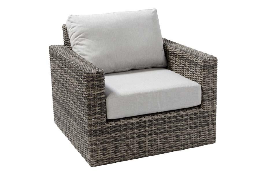 Swivel Resin Wicker Chair Weathered Grey