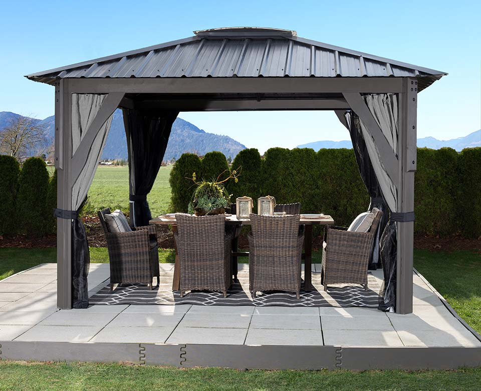 Admirable Visscher Gazebos And Pergolas Collection Pioneer Family Pools Home Interior And Landscaping Spoatsignezvosmurscom