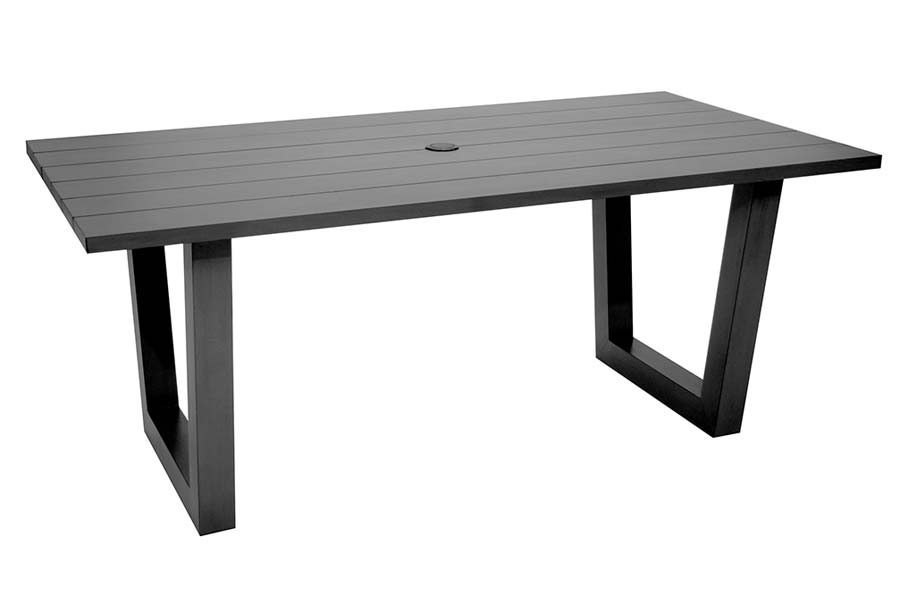 Rectangle Slatted Dining Table