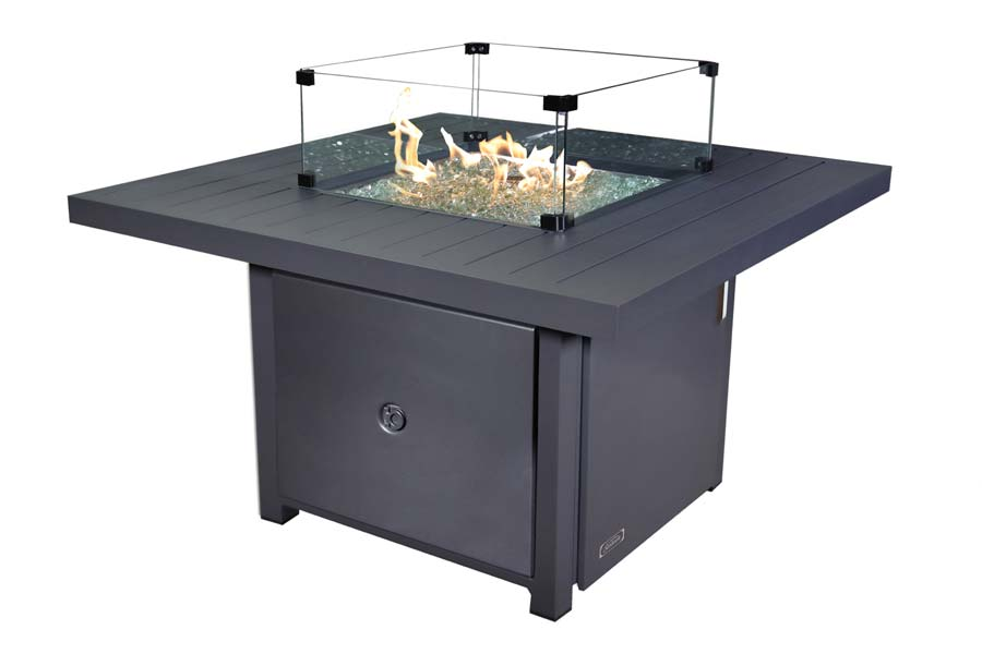 42″ Square Fabia Fire Table Propane