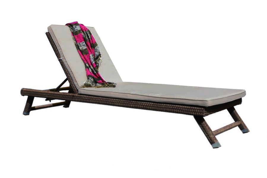 Universal Resin Chaise Lounge Brown Silver