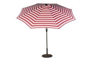 9' Stripe Market Polyester Umbrella