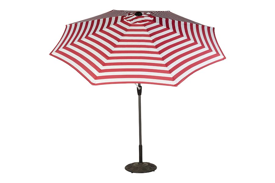 9′ Stripe Market Polyester Umbrella