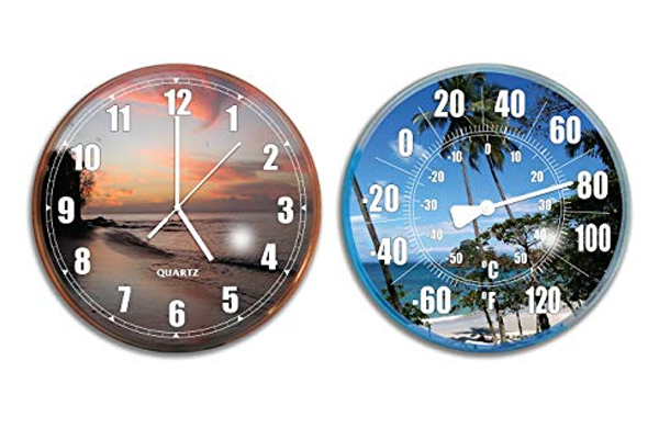 Wall Clock Thermometer Combo