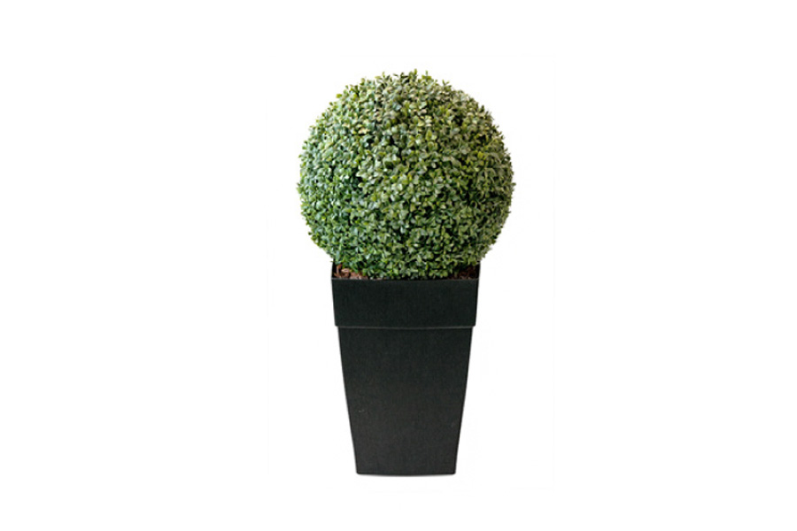 40 round boxwood planter