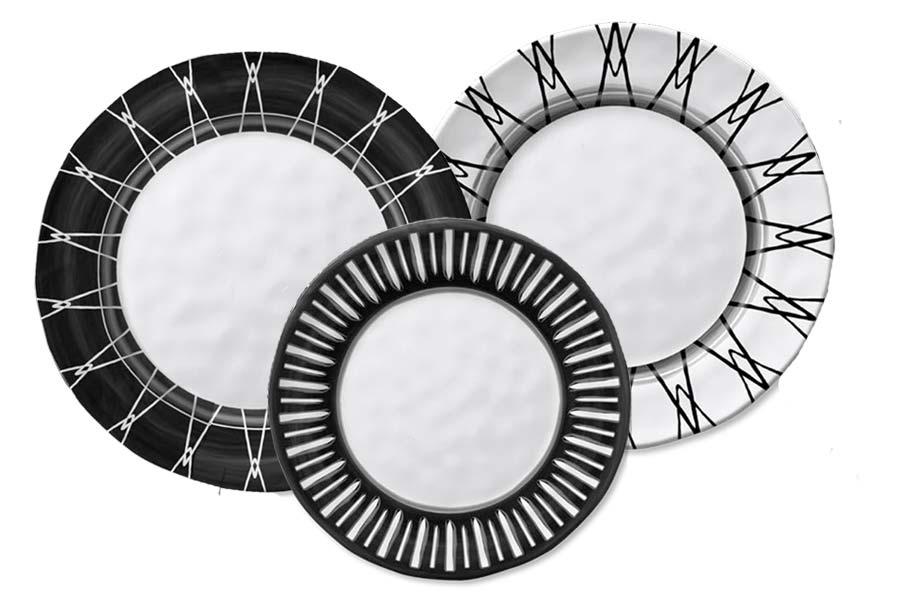 Black & White Dinnerware