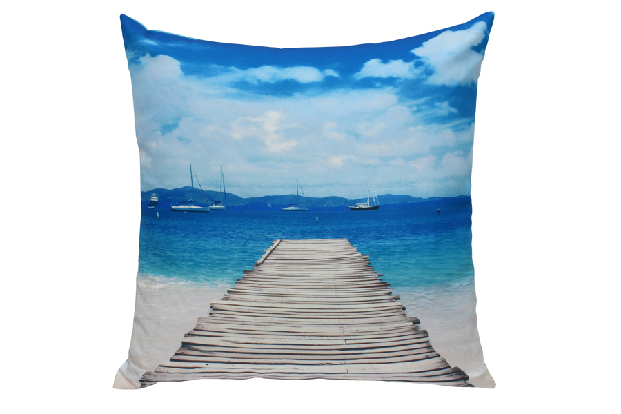printed boardwalk pillow