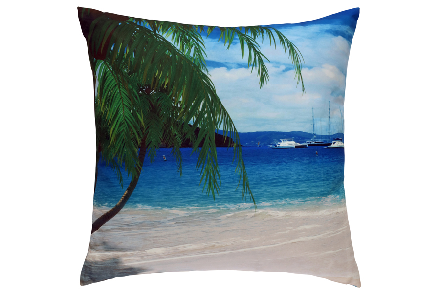 printed palm tree pillow