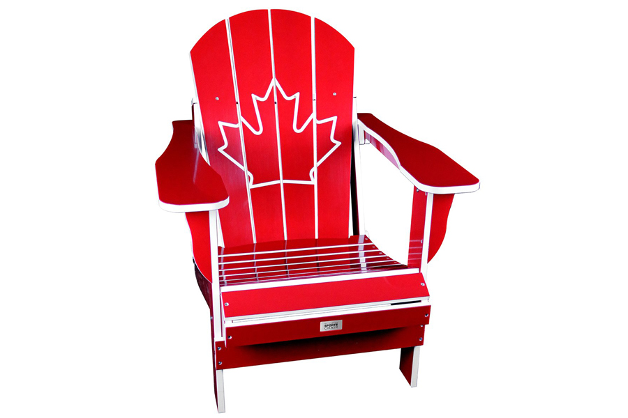 Folding Resin Canada Chair Red