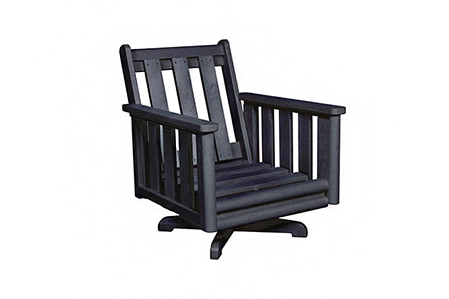 Swivel Lounge Chair Frame Black