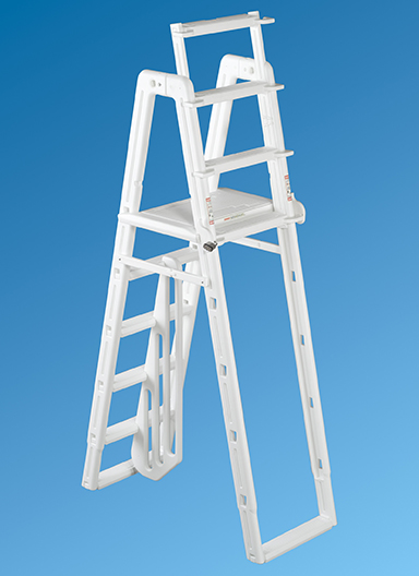 Ocean Blue A-Frame Ladder