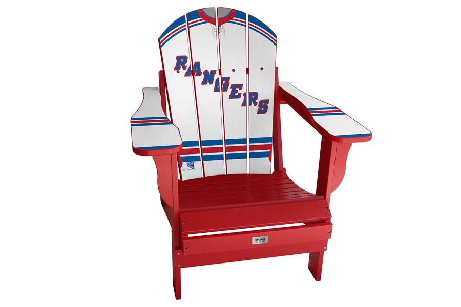 NY Rangers Sports Chair – White