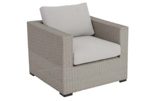 Mila Collection Club Chair Pale Grey