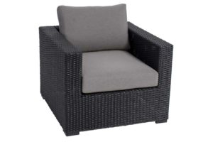 MIla Collection Club Chair Black/Grey