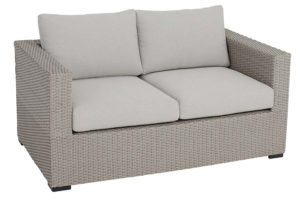Mila Collection Loveseat Pale Grey