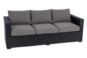 Mila Collection Sofa Black/Grey