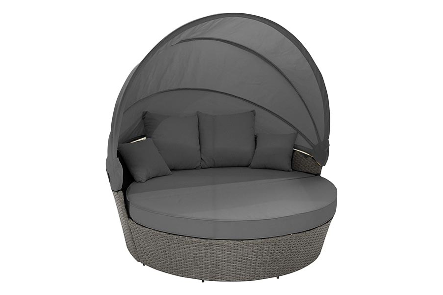 Grey Moon Bed With Canopy