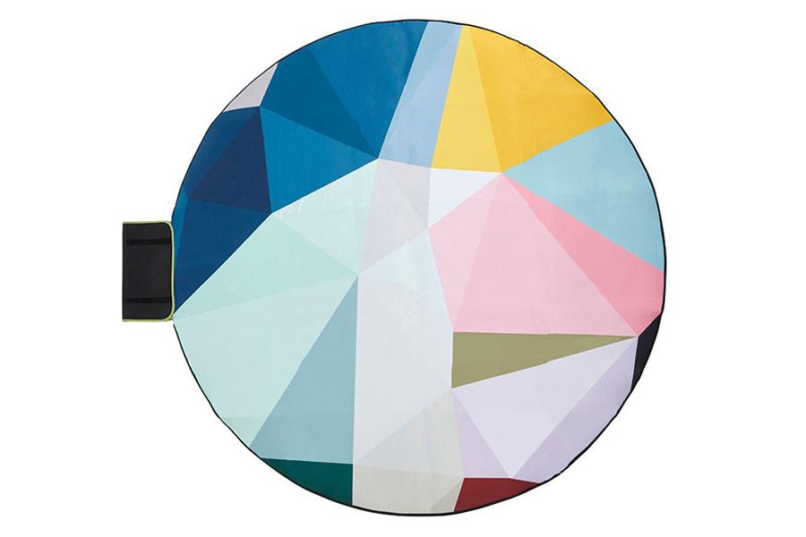 Prism 6' Round Outdoor Mat
