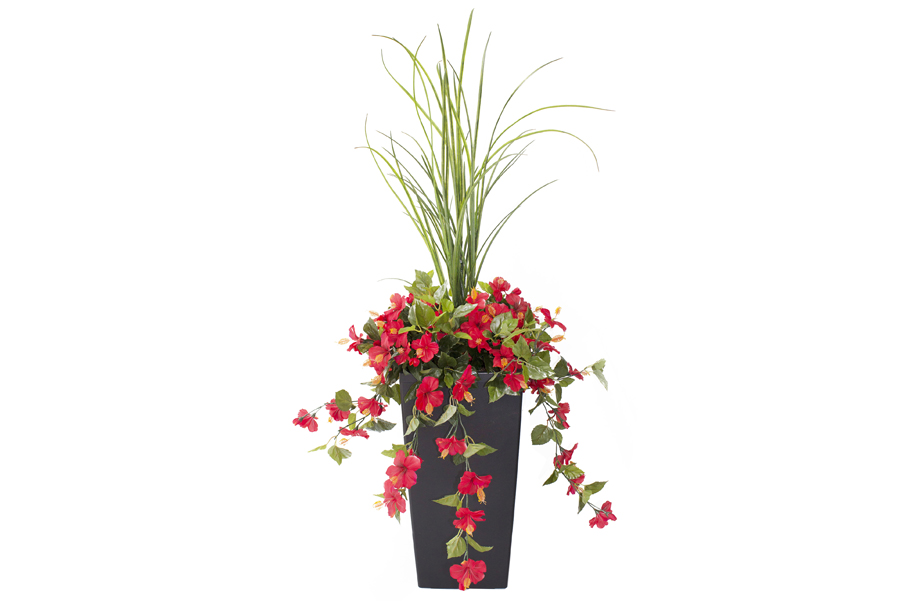 "3' 3"" Outdoor Planter Red Bougainvilleas"