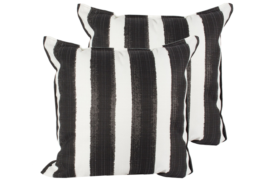 20″x20″ Black/White Stripe