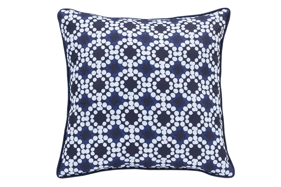 18″x18″ Blue Flower Shibori
